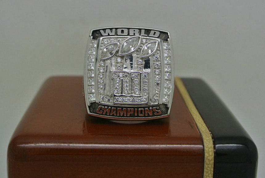 2007 Super Bowl XLII New York Giants Eli Manning Championship Ring
